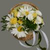 Корзина с ромашками – Интернет-магазин цветов STUDIO Flores