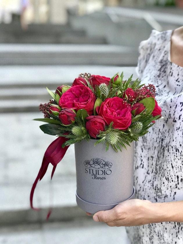 Букет Строптивая роза – Интернет-магазин цветов STUDIO Flores