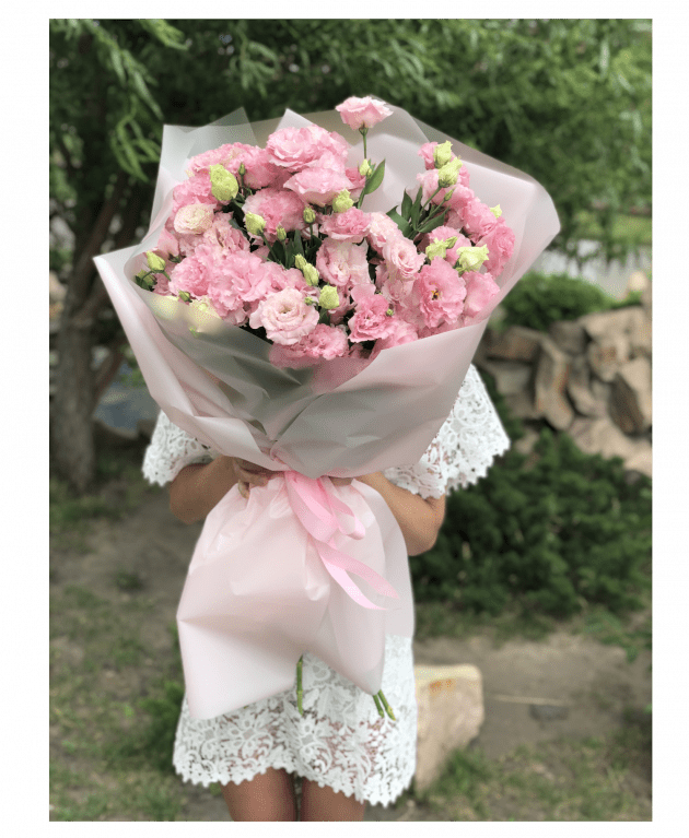 A Giant Bouquet with eustoma – Flower shop STUDIO Flores