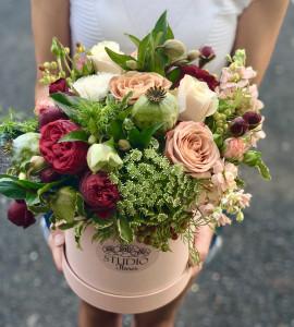 Букет Кремовый коктель – Flower shop STUDIO Flores