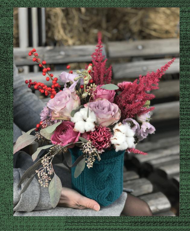 Букет Свитерок – Интернет-магазин цветов STUDIO Flores