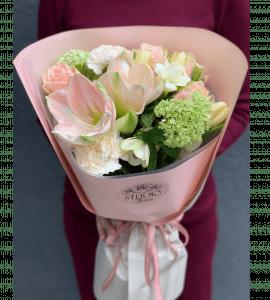 Букет Персиковое пралине – Інтернет-магазин квітів STUDIO Flores