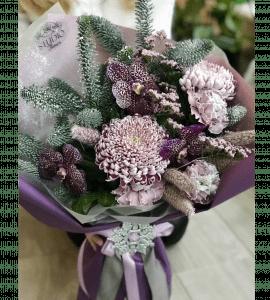 Букет Зимняя хризантема – Интернет-магазин цветов STUDIO Flores