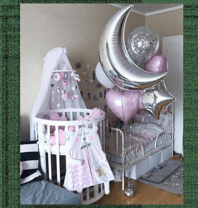 Комплект шаров десять – Интернет-магазин цветов STUDIO Flores