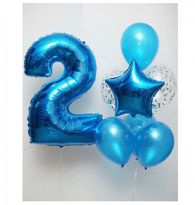Комплект шаров одинадцать – Интернет-магазин цветов STUDIO Flores