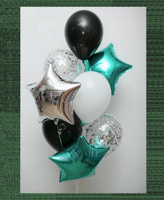 Комплект шаров девять – Интернет-магазин цветов STUDIO Flores