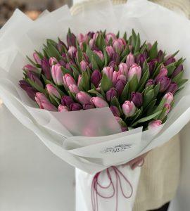 """Букет """"101 тюльпан"""" – Интернет-магазин цветов STUDIO Flores"""