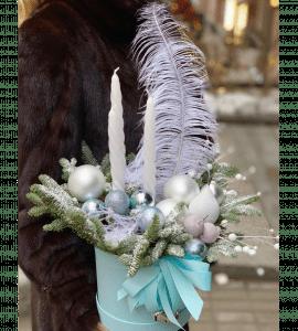 """Букет """"Новогоднее волшебство"""" – Інтернет-магазин квітів STUDIO Flores"""