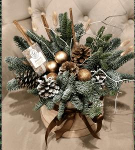 """Букет """"Новогодний бархат"""" – Інтернет-магазин квітів STUDIO Flores"""