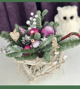 Букет Новогодний подарок – Інтернет-магазин квітів STUDIO Flores