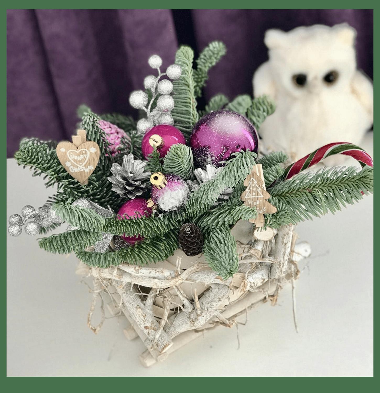 Букет Новогодний подарок – Интернет-магазин цветов STUDIO Flores