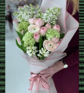 """Букет """"Бузковий аромат"""" – Интернет-магазин цветов STUDIO Flores"""