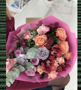 """Букет """"Цветочные градиенты"""" – Интернет-магазин цветов STUDIO Flores"""