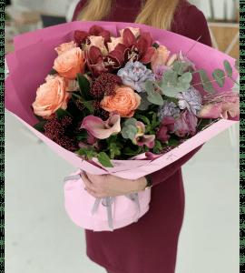 Букет цветочные градиенты