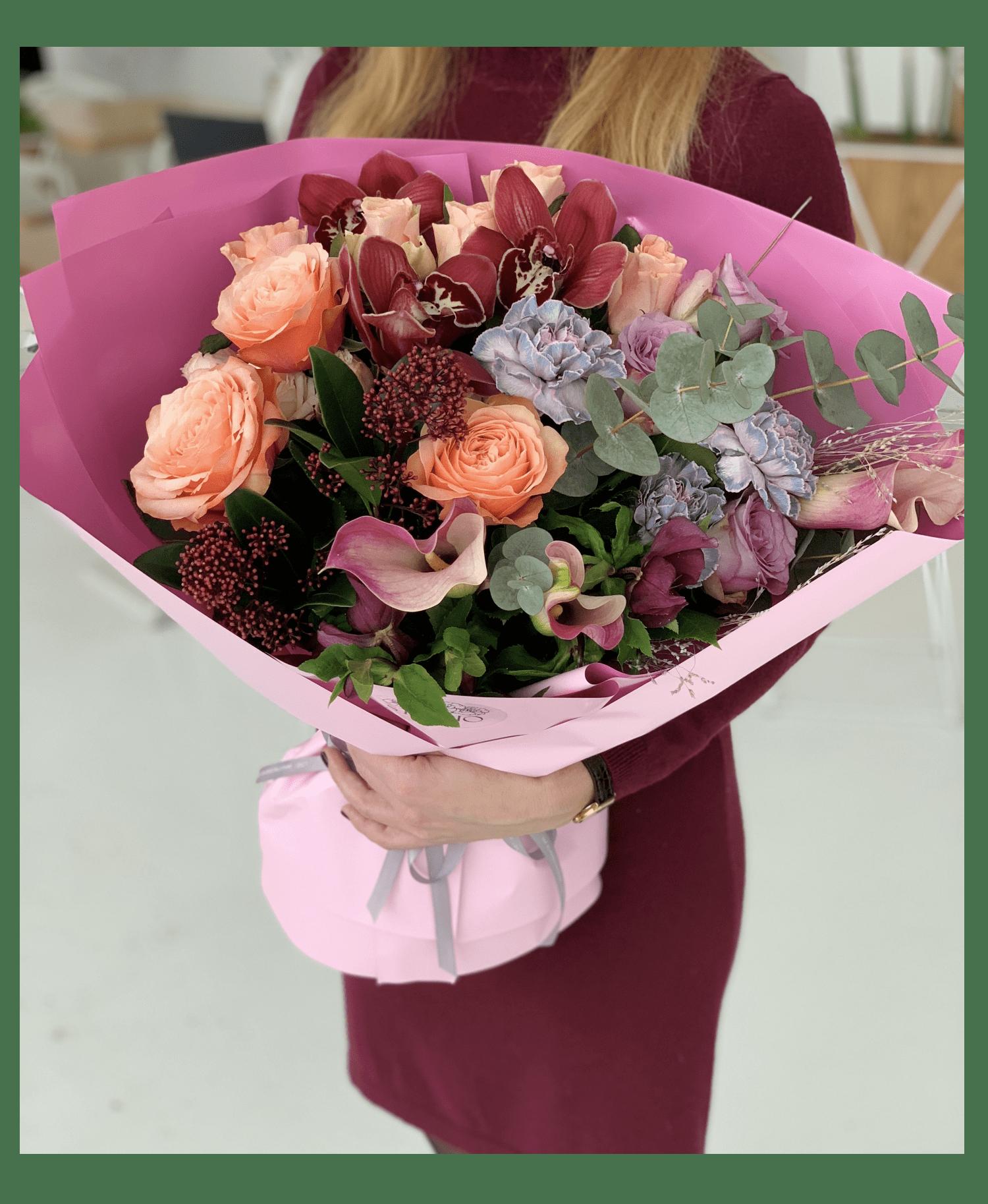 """Букет """"Цветочные градиенты"""" – Flower shop STUDIO Flores"""