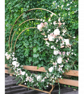 """Свадебная арка """"Круглая"""" – Інтернет-магазин квітів STUDIO Flores"""
