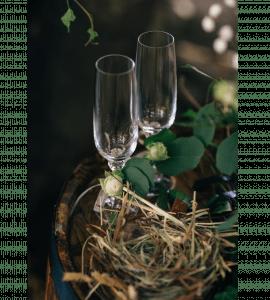 Свадебные бокалы – Інтернет-магазин квітів STUDIO Flores
