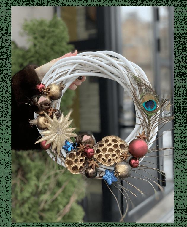 Венок Перо Жар птицы – Интернет-магазин цветов STUDIO Flores