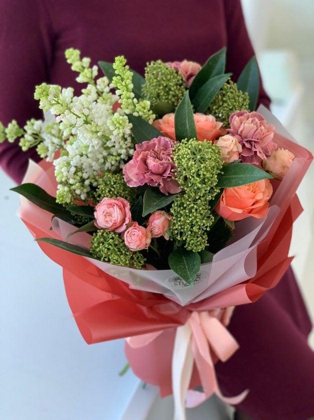 Букет 'Багряный закат' – Интернет-магазин цветов STUDIO Flores