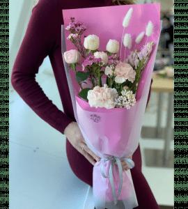 """Букет """"Розовый каприз"""" – Интернет-магазин цветов STUDIO Flores"""