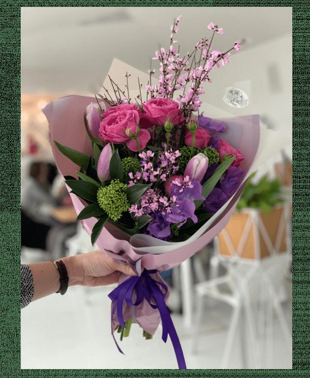 """Букет """"Розовый агат"""" – Интернет-магазин цветов STUDIO Flores"""
