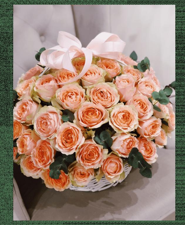 "Корзина роз ""Гравити"" – Интернет-магазин цветов STUDIO Flores"