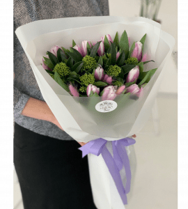 Весенний букет тюльпанов – Интернет-магазин цветов STUDIO Flores