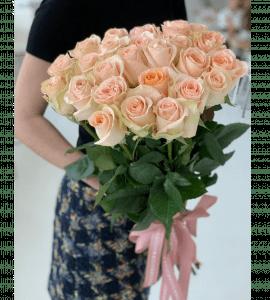 Букет 25 роз Тиффани – Интернет-магазин цветов STUDIO Flores