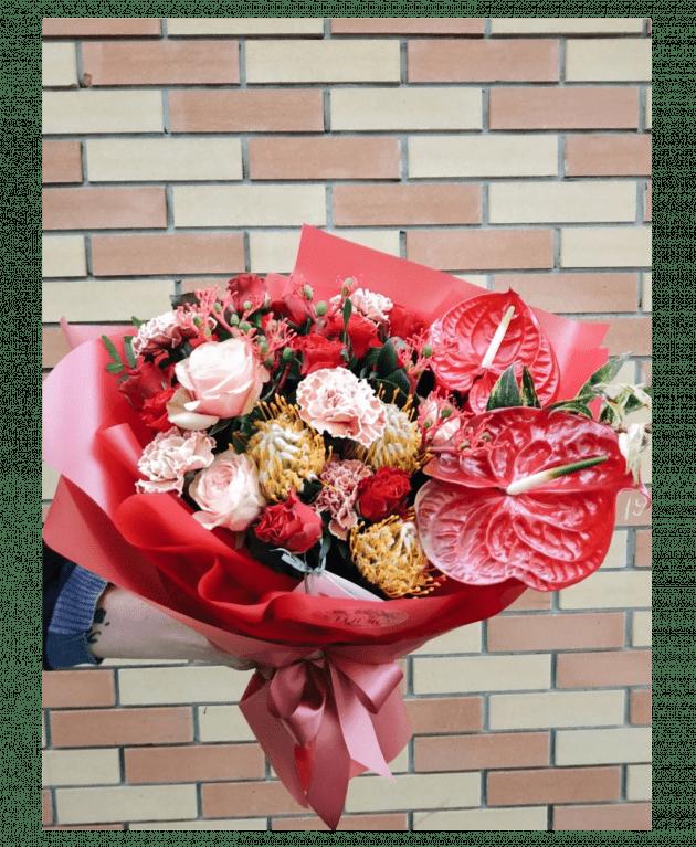 """Букет """"Червовая Дама"""" – Интернет-магазин цветов STUDIO Flores"""