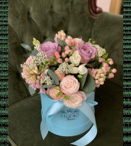 Розовый букет на день рождения