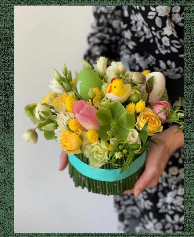 Букет 'Пасхальный снопик' – Интернет-магазин цветов STUDIO Flores