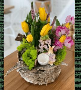 """Букет """"Пасхальный зайка"""" – Интернет-магазин цветов STUDIO Flores"""