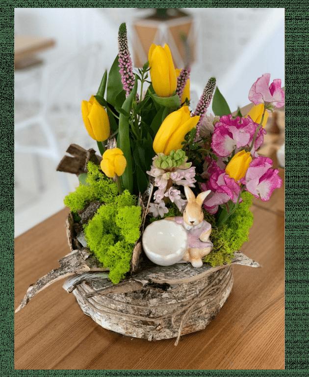 """Букет """"Великодній зайчик"""" – Інтернет-магазин квітів STUDIO Flores"""