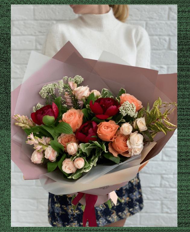 Букет 'Пионовый фьюжн' – Интернет-магазин цветов STUDIO Flores