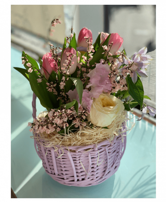 Корзина цветов 'Для дочки' – Интернет-магазин цветов STUDIO Flores