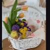 Кошик квітів 'Великдень' – Інтернет-магазин квітів STUDIO Flores