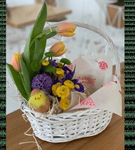 """Кошик квітів """"Великдень"""" – Интернет-магазин цветов STUDIO Flores"""