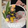 Кошик квітів 'Великдень' – зображення 2 – Інтернет-магазин квітів STUDIO Flores