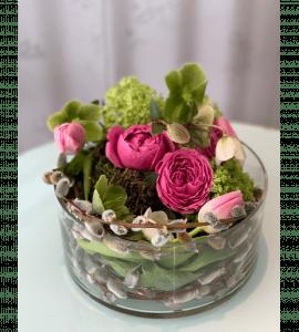 Пасхальная композиция с котиками – Інтернет-магазин квітів STUDIO Flores