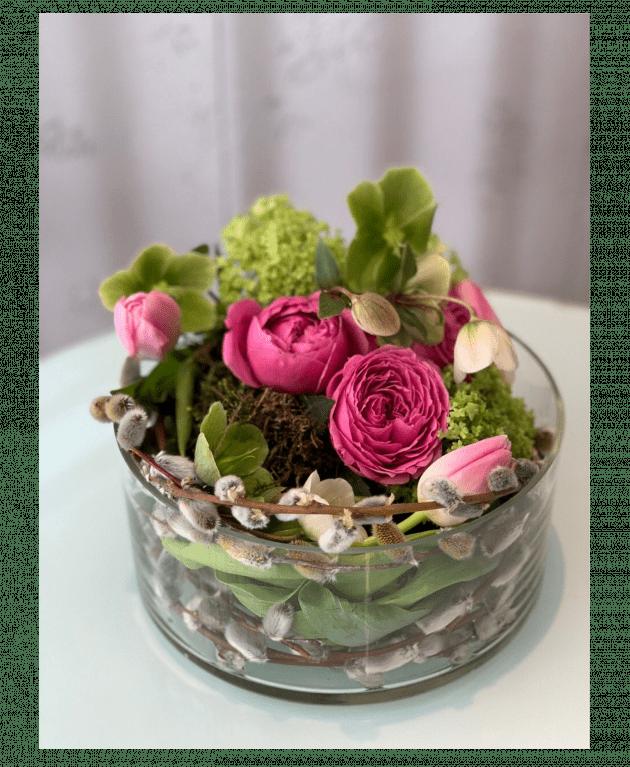 Пасхальная композиция с котиками – Интернет-магазин цветов STUDIO Flores