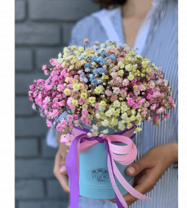 Букет с гипсофилой – Інтернет-магазин квітів STUDIO Flores