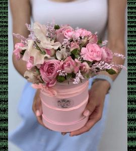 """Букет """"Клубничное смузи"""" – Інтернет-магазин квітів STUDIO Flores"""