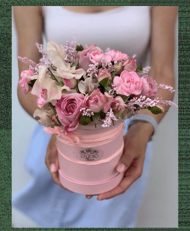 Букет 'Клубничное смузи' – Интернет-магазин цветов STUDIO Flores