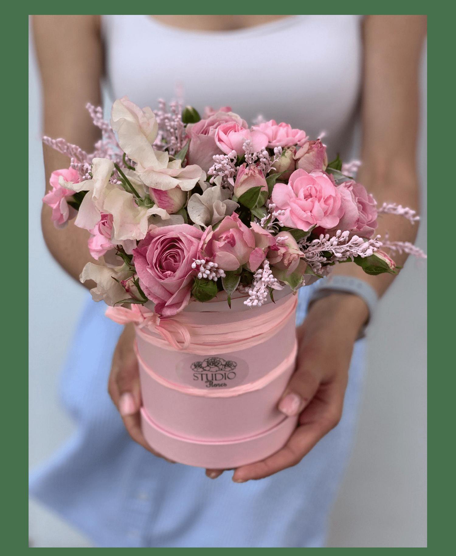 """Букет """"Клубничное смузи"""" – Интернет-магазин цветов STUDIO Flores"""