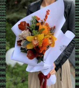 """Букет """"Осеннее солнце"""" – Интернет-магазин цветов STUDIO Flores"""