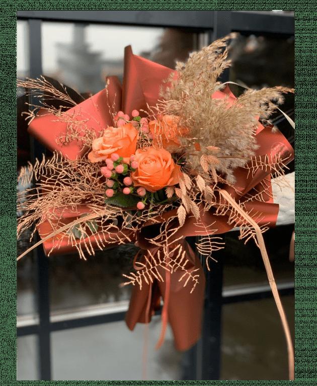"""Букет """"Тайны охры"""" – Интернет-магазин цветов STUDIO Flores"""