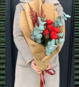 Букети в паперовому пакуванні - flores-shop.com.ua