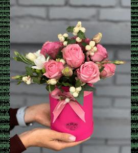 """Букет """"Малиновое варенье"""" – Интернет-магазин цветов STUDIO Flores"""