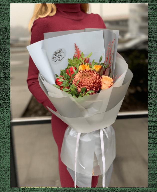 """Букет """"Осенний комплимент"""" – Интернет-магазин цветов STUDIO Flores"""