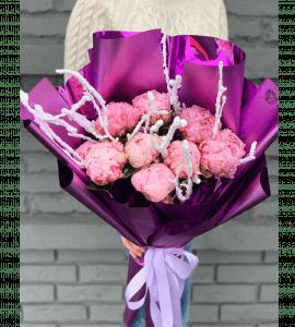 Букет 'Пионы зимой' – Интернет-магазин цветов STUDIO Flores